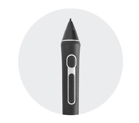 Полный 3D контроль Три полностью настраиваемые кнопки пера позволяют разворачивать объекты, панорамировать, масштабировать, моделировать, осуществлять скульптурную обработку или изменять творческие инструменты в приложениях 3D и 2D