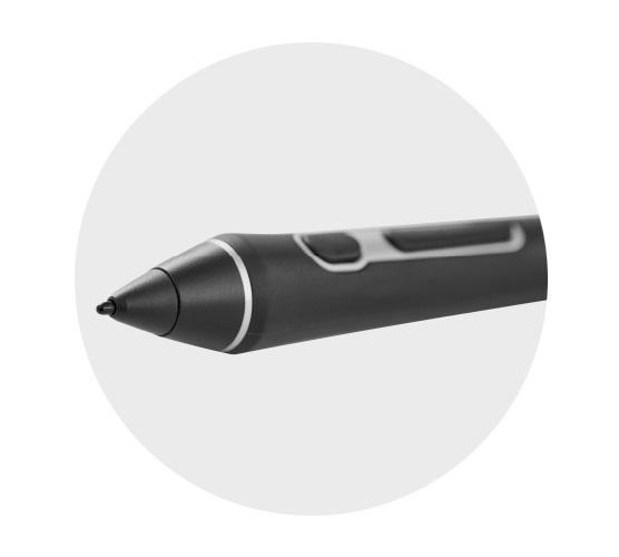 Улучшенная производительность пера Wacom Pro Pen 2 Чувствительность к нажатию выше в 4 раза, исключительная реакция на наклон и оставление следа практически без задержек обеспечивают улучшенное управление творческим процессом