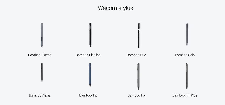 Wacom stylus