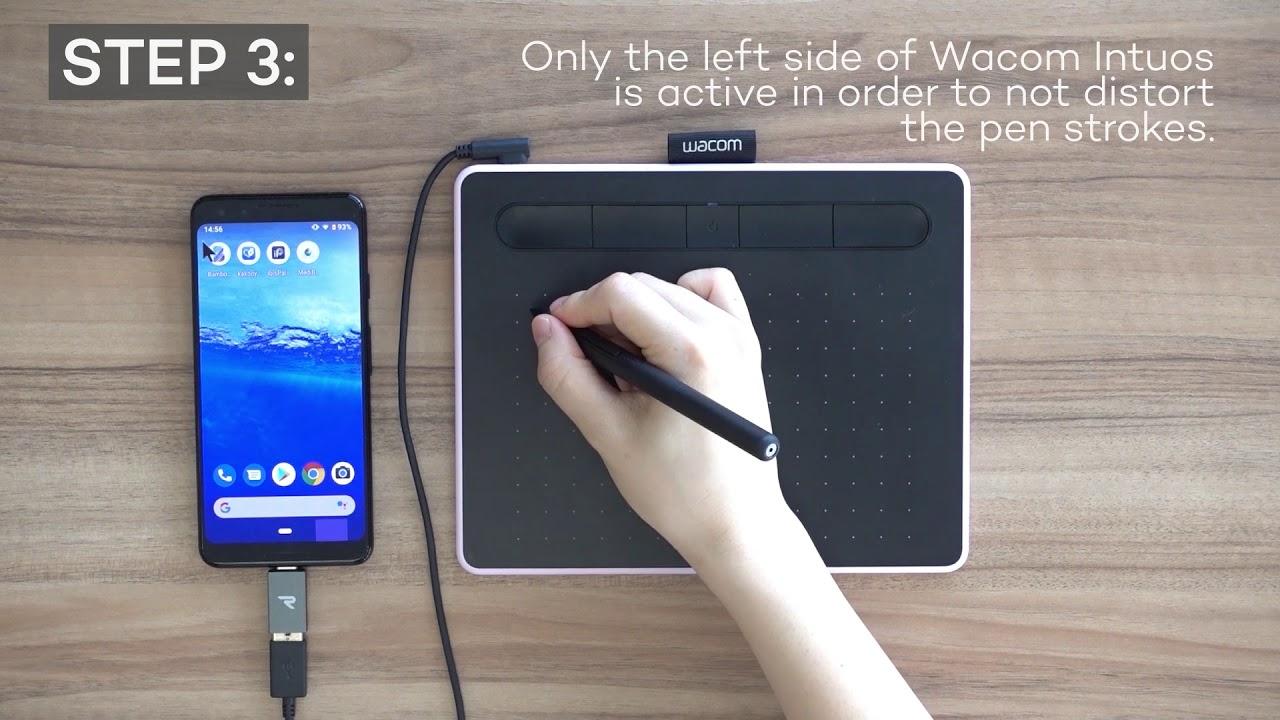 Мобильное подключение Wacom Intuos к Android